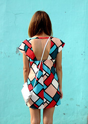 Victoria Y - Asos Geometric Dress - TALK TO THE BACK COZ THE FACE ISN'T LISTENING