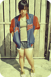 Elle Tanzo - Indians Varsity Jacket, Street Jeans Cut Pants, Pill Oxford Shoes - I'm out of the BLUE!