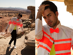 Raphael - Hollywood Mirror Jacket, Bdg Tank, H&M Drain Jeans, Asos Desert Boots - Lost In A Place Called America: Utah