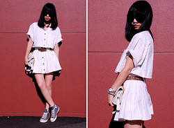 Twee Wu - Vintage Dress Suits, Converse, Monki Sunnies - Xi