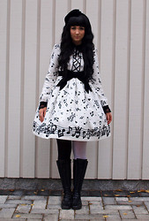 Denise Elliot S - Angelic Pretty Melody Doll Op, Two Tone Tights, Velvet Hairbow - Like a melody