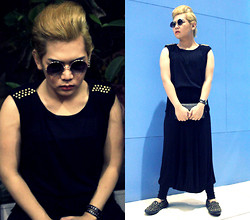 Pat Villamor - Diy Studded Top, Thrifted Flohttp://Lookbook.Nu/Create#Removeor Length Drop Crotch - #PhilippineFashionWeek: Day7