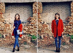 Ma Petite - Vintage Coat, Mango Bag, H&M Pants - Another brick in the wall