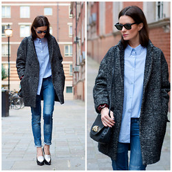 Hedvig ... - Bik Bok Old Jeans, Acne Studios Shirt, Isabel Marant Etoile Coat - The blues