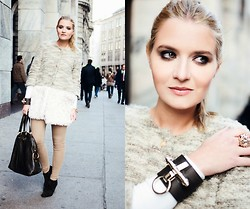 Veronica Ferraro - Givenchy Bracelet, Mina Art Coat - Boy, you got my hearbeat runnin' away