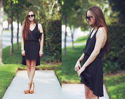 Bethany Struble - Black Dress, Steve Madden Greta Sandals, Black Clutch - Now And Again