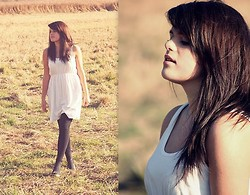 Izabela R - H&M Black Leggings, H&M White Dress - Sunny village.