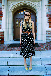 Jamie Matherly - Thrifted Dotty Dress - Seminole Heights