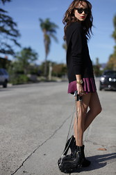 Ashley M - Alexander Wang Bag, Viparo Leather Skirt - Long and Short of It.