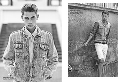 Dominic Nutt - Topman Denim Jacket, Levi's® Shirt, Uniqlo Shorts, Topman Boat Shoes - Denim love