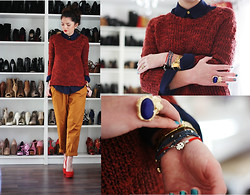 Anni *** - Primark All, Romwe Ring - Colour blocking in autumn