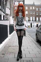 Olivia Emily - Thigh High Leggings, Topshop Long Top, Ebay New Heels - Kids With Guns.