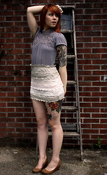 Breanna Leigh Harmony - Frilly Skirt, Urban Outfitters Wedges - I see you, I hear you still.