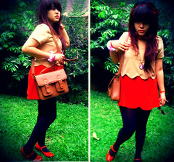 Nysa Astari - Crop Top, I Got From My Mom Red Dress, Metro Department Store Red Shoes - The Reds
