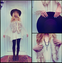 Malory Torr - H&M Hat, H&M Faux Fur Stole, Dr. Martens Doc - † Cross My Heart †