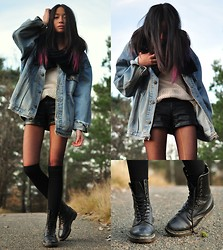 Cindy Le - Lindex Leather Shorts, Dr. Martens Boots - Novembercoldness