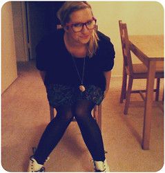 Rachel O - Urban Outfitters Glasses, Dr. Martens Docs, Urban Outfitters Skirt - I Need a New Version of Me.