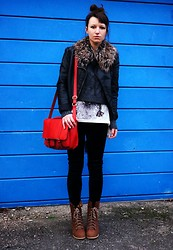 Agata P - New Look Jacket, H&M Bag, Internacionale Leggings, Primark Boots, Sh Collar - Hopeless