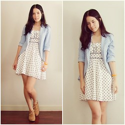 Kapongpeang K. - Polka Dot Dress, Polka Dot Blazer, Oxford - The polka dot lover