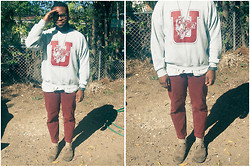 Antwan Duncan - Vintage Fanfare, Levi's® Maroon Denim, All Saints Casuals - On warmth and other things.