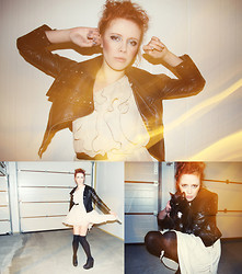 Jesuswannatouchme . - Studded Leather Jacket, Dress, Booties - Catgroove.