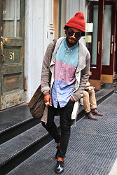 Kadeem Johnson - Ll Bean Shirt, Diesel Sweater, Acne Studios Bag - Random Encounters