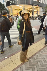 Julienne Raboca - Marc By Jacobs Half Sleeved Coat, Bangkok What Do You Call This Type Of Hat?, Wufenpu Market, Taipei, Taiwan Fur Leg Warmers - Shibuya!