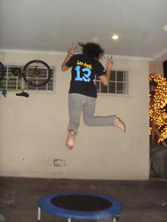 Alessandra Katigbak - Philippines Customized Tee, Old Navy Skinny Jeans - Trampoline!