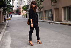 Isabelle V - Swatch Watch, Forever 21 Blazer, Mango Top, Forever 21 Pants, Michael Antonio Snakeskin Shoes, Ray Ban Sunnies, Forever 21 Accessories - WWW - What I Wear to Work