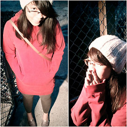 Soukprida P. - American Apparel Hoodie Dress, H&M Hat - 003: Casual Sunday Night