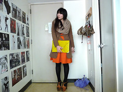 Kathy Yang - Jessica Simpson Heels, Asos Clutch, H&M Skirt, Topshop Scarf - An Autumn Prayer
