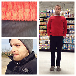 Jacob Sever - Ralph Lauren Sweater, Arrow Button Down, H&M Pin Stripe Pants, Bass Boat Shoes, Wal Mart Beanie, The North Face Vest - IT WAS F*CKING COLD