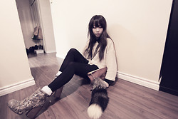 Ivy Xu - American Apparel Reversible Sweater, Aldo Boots - I know you do.