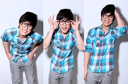 Hanz Go - Topman Plaid Top - Smile =)