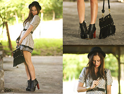 Melanie Winter - Nasty Gal Bag, Asos Romper, Jeffrey Campbell Boots - DOTS AGAIN