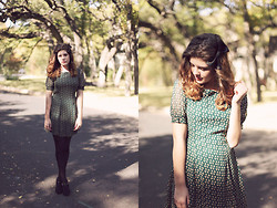 Leah G - Need Supply Co. Green Pattern Dress - Opera