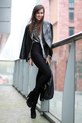 Andy T. - H&M Leather Jacket, Monki Blouse, American Apparel Riding Pants, Givenchy Bag - BACK FOR MORE