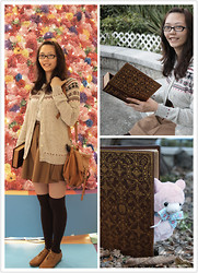Joycelyn Lam - H&M Oxford Shoes, Franc Clutch Book, Uniqlo Cardigans, Earth Music And Ecology One Piece - My Lovely Arpakasso~