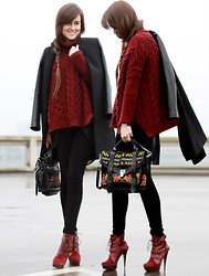 Andy T. - Proenza Schouler Bag, Zara Coat, River Island Boots - THE FOG
