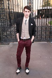 Adrian Cano - Vintage Tie, Vintage Waistcoat, H&M Blazer, H&M Trousers - Movember