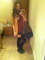 Emma C. - Frontrowshop Top, Forever 21 Blazer, H&M Bag - The one that got away