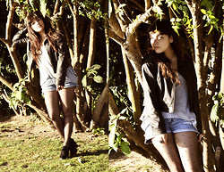 Constanza Caiceo - Greenfield Black Suede Shoes, Second Hand Diy High Waisted Shorts, Black Leather - Time above the Earth
