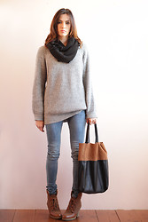 Marty P. - Zara Sweater, H&M Bag Shoes And Skinny - 29112011 last look of november