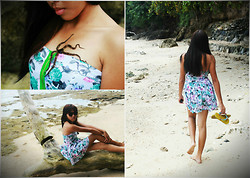 Shelvie Fernan - Pink Floral Dress, Marc By Jacobs Vintage Shades, Havaianas Flipflops - I just wanna be on the beach!