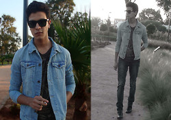 Marwan Woochi - Pull & Bear, Zara Denim, Sisley Skinny, Ray Ban Black Square - I Hate This dealing With Me that I am ''Weird Boy''