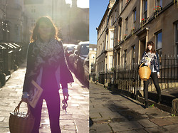 Becky May - Vintage Dalmatian Scarf, Isabel Marant Jacket, Aquascutum Shirt, H&M Jeans, Ray Ban Sunglasses - The gentlewoman
