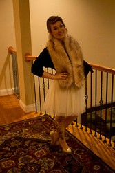 Mary Smith - H&M Faux Fur, Forever 21 Lace Cardigan, H&M Dress, Icing Tights - Birthday <3