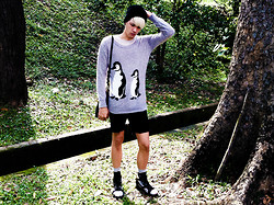 Mario Ferdino - Topshop Sweater, Topman Shorts, Leather Gladiators - He asked me when my cult was committing suicide