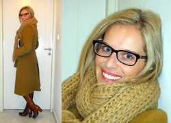 Vanda Santos - Local Shop Coat, Rollini Boots, Marc By Jacobs Eyeglasses, Local Knit Scarf - Something old, something new...