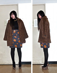 Kathy Yang - Vintage Fur Coat, Vintage Skirt, Moschino Wedges - Atrophying Apathy